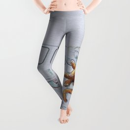 Checking It Out: Man, Woman, and Dog Leggings