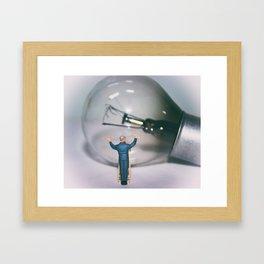 Bulb Cleaner Framed Art Print