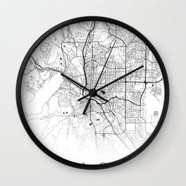 City Map Neck Gaiter Colorado Springs Neck Gator Wall Clock