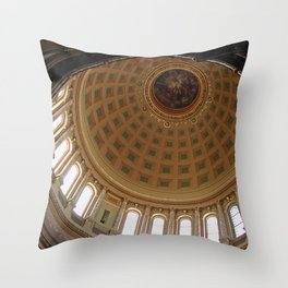 The rotunda of the Capitol building in Madison, Wisconsin Throw Pillow