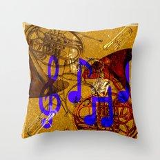 Notes of Sound Throw Pillow