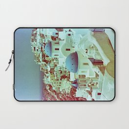 Santorini in Raspberry and Blue: shot using Revolog 600nm special effects film Laptop Sleeve