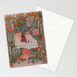 Two Sisters II: Bird of Paradise & Blood Orange Stationery Cards