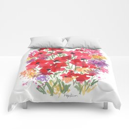 Little Red Poppy Patch Comforters