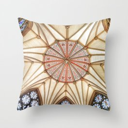 Chapter House at York Minster Throw Pillow