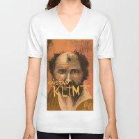 klimt V-neck T-shirts featuring 50 Artists: Gustav Klimt by Chad Beroth