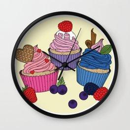 Cupcake Sweets Wall Clock