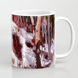 Tom Thomson - Winter Thaw in the Woods - Canada, Canadian Oil Painting - Group of Seven Coffee Mug