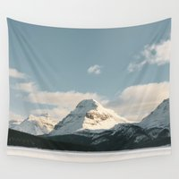bow Wall Tapestries featuring Bow Lake by Celestine Aerden