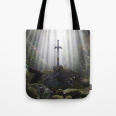 Master Sword in Ruins (Breath of the Wild) Tote Bag