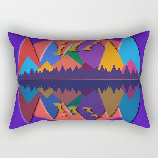 Mountain Scene #8 Rectangular Pillow