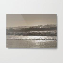 Shining Waves Metal Print