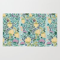 flower pattern Area & Throw Rugs featuring Flower Pattern by Jo Cheung Illustration