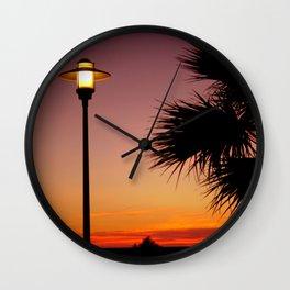 tramonto semplice Wall Clock