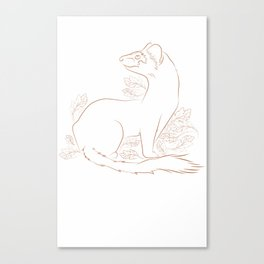 Mustela Frenata Canvas Print
