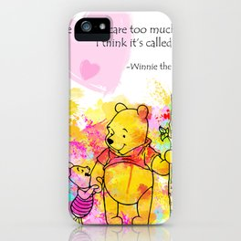 Pooh -  Spell Love... 12 iPhone Case