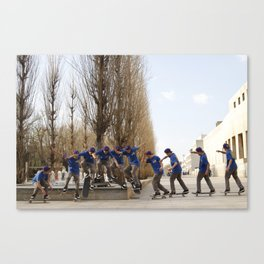 Skateboarding Portugal Canvas Print