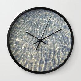 When Light Meets Water Wall Clock