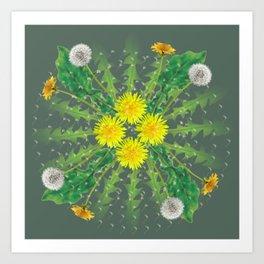 Dandelion Cycle Art Print