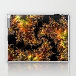 Autumn Leaves yellow brown orange Fractal Laptop & iPad Skin