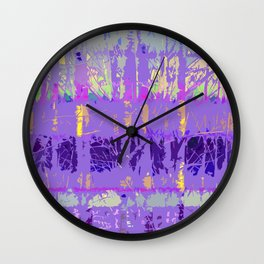 Abstract Forest Trees in Lavender and Lilac Wall Clock