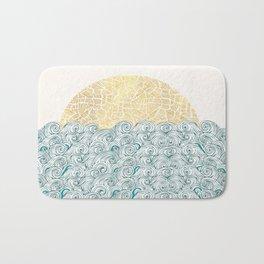 Sunny Tribal Seas Bath Mat