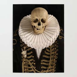 Lord Tudor Skull with ruff Poster
