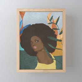 Afro lady #art print#society6 Framed Mini Art Print