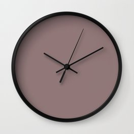 Grape Vine Purple Solid Color Inspired by Behr Plumville N120-5 Wall Clock