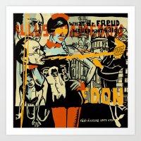 freud Art Prints featuring Freud by Zsolt Vidak