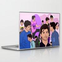 zayn Laptop & iPad Skins featuring Zayn Collage by Pinkeyyou
