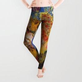 Chagall Collage Leggings