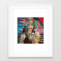 chelsea fc Framed Art Prints featuring Chelsea by Katy Hirschfeld