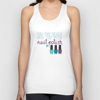 nail polish Tank Tops featuring Too much nail polish by forgottenLexi