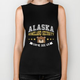 ALASKA HOMELAND SECURITY Novelty Bear TShirt Biker Tank