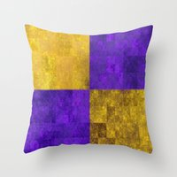 lakers Throw Pillows featuring LA-kers by Ramo