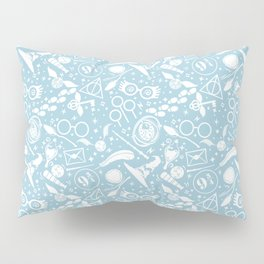 POTTER MAGICAL ITEMS WORLD IN BLUE PASTEL Pillow Sham