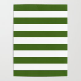 Simply Stripes in Jungle Green Poster