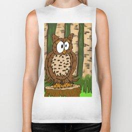 Gerald the Owl Stumped! Biker Tank