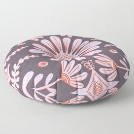 Boho Florals Pink Red Purple Floor Pillow