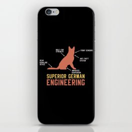 German Shepherd Gift: Superior German Engineering iPhone Skin