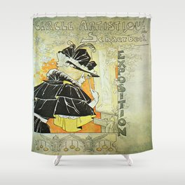 Vintage poster - French Exposition Shower Curtain