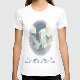 Astronaut and ice planet T-shirt