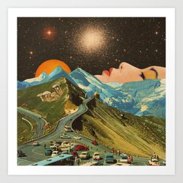 Face on the mountain Art Print