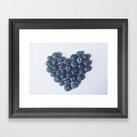 Blueberry Love Framed Art Print