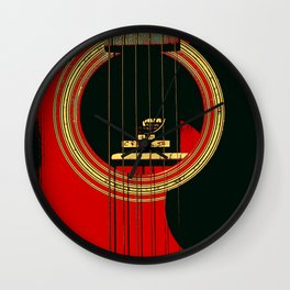 Guitar Sound Hole Wall Clock