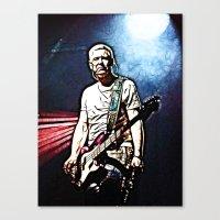 u2 Canvas Prints featuring U2 / Adam Clayton by JR van Kampen