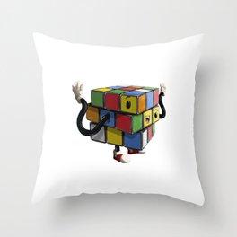 Rubiks Cube Throw Pillow