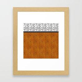 Yellow black tiger pattern . Framed Art Print