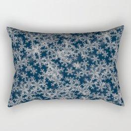 Deep Blue Snow Rectangular Pillow